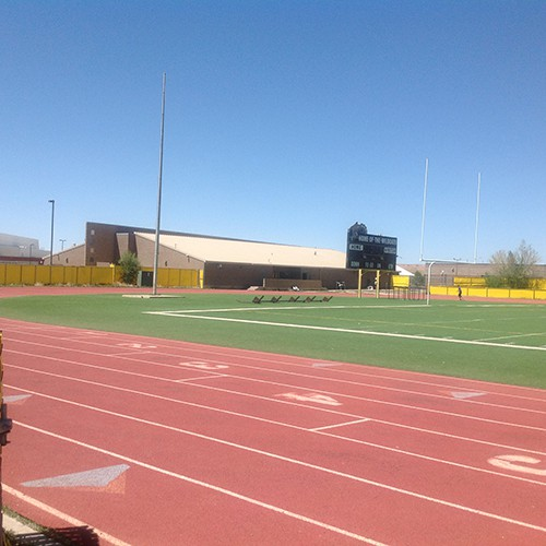 Chinle High School Synthetic Turf Football Field & Rubberized Track