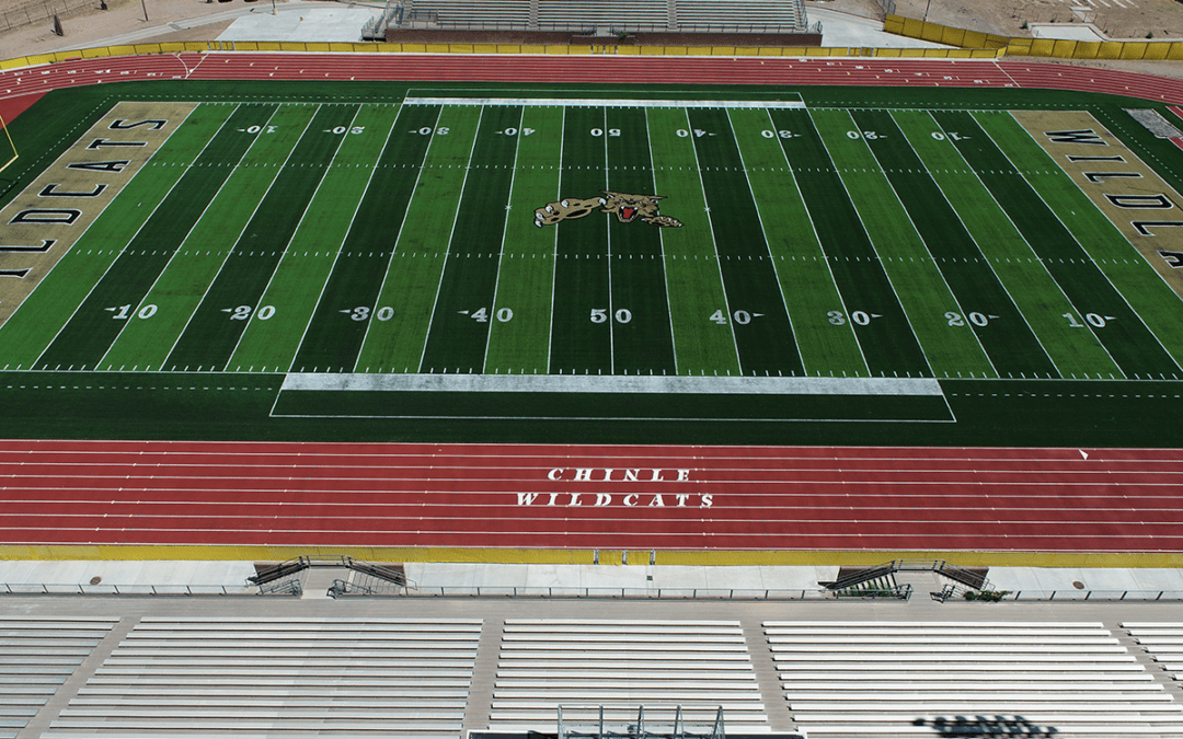 2019 Chinle High School – New Synthetic Turf Football Field & Rubberized Track with Post Tensioned Concrete Subbase